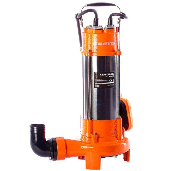 Bomba eléctrica sumergible aguas sucias Anova BE1300ASC