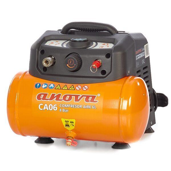 Compresor de aire Anova CA06 1.5HP 8Bar 6L
