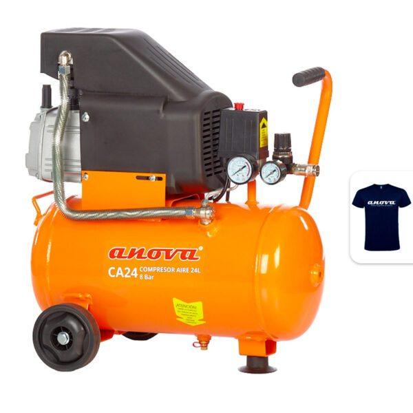 Compresor de aire Anova CA24 1.5HP 8Bar 24L