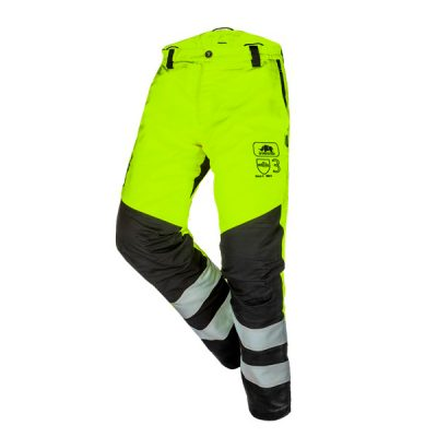 Pantalón Anticorte de Alta Visibilidad Amarillo Clase 3