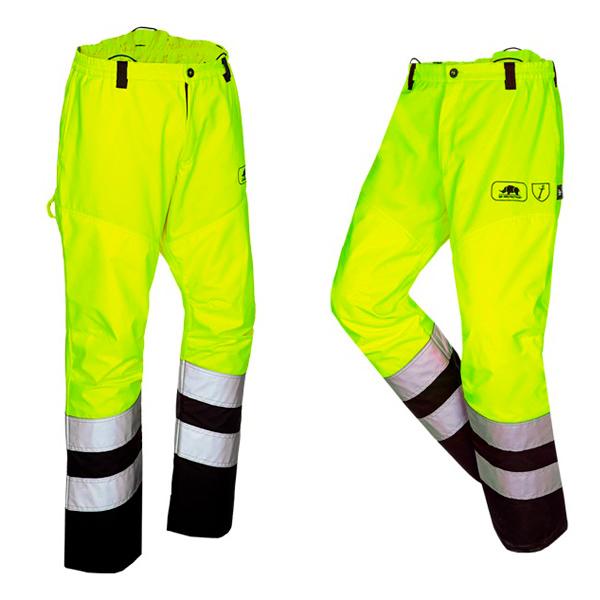 Pantalón Visibilidad Amarillo Desbroce Alta