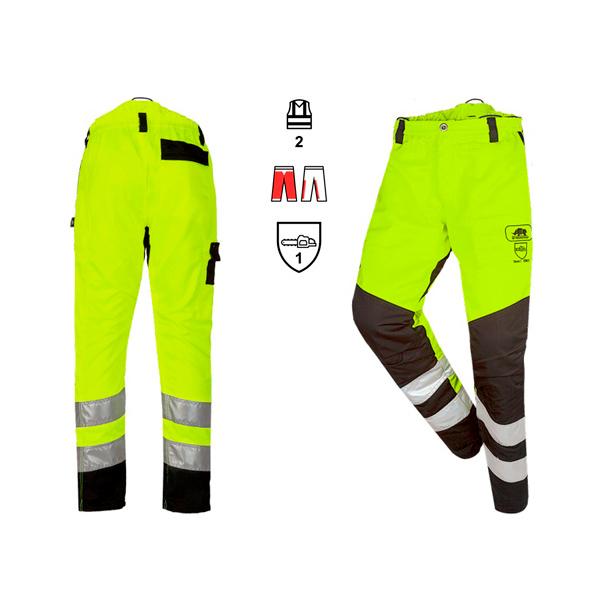 Pantalón Visibilidad Anticorte  Amarillo Clase 1